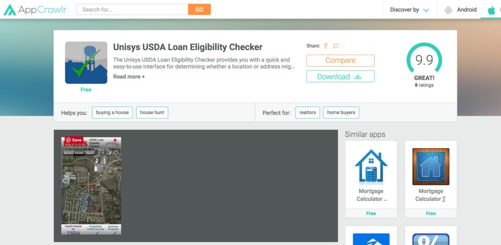 USDA Eligibility MObile App