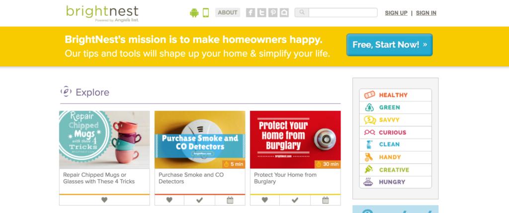 Brightnest homeowners app