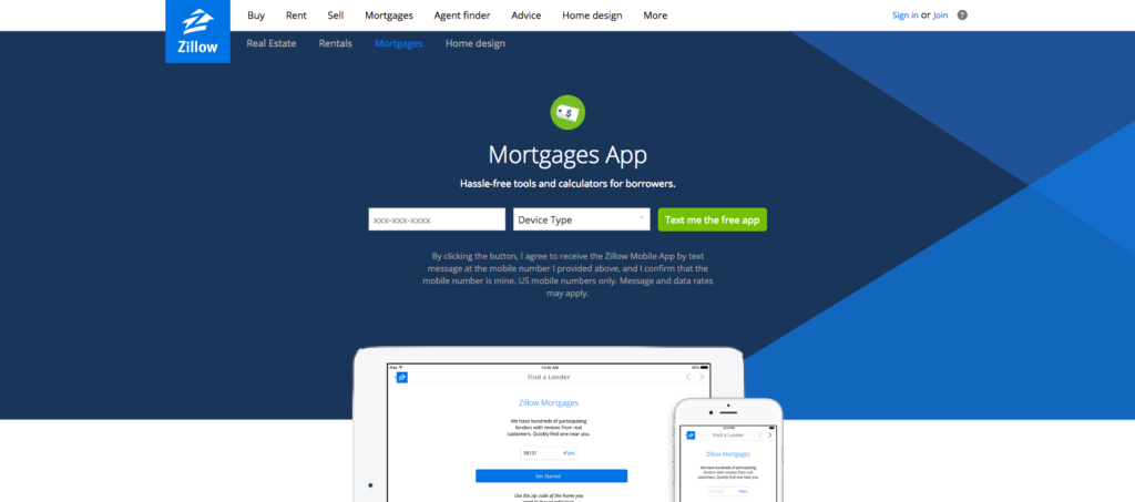 Zillow Mortgage App